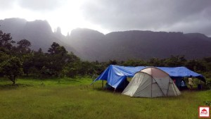 MONSOON CAMPING WITH BIG RED TENT 1