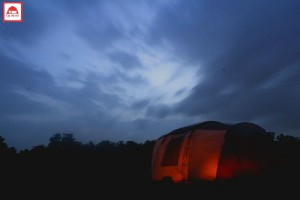 MONSOON CAMPING WITH BIG RED TENT
