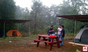 MONSOON CAMPING WITH BIG RED TENT 5