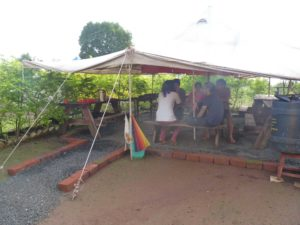 Monsoon Camping with Big Red Tent 20